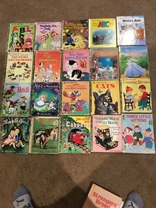Lot (20) Vintage Little Golden Books, Heidi Hansel & Gretel, Alice in wonderland
