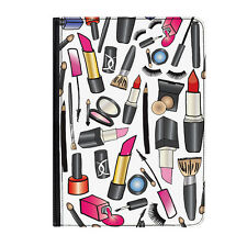 """Make Up & Beauty Lipstick Universal 9-10.1"""" Leather Flip Case Cover"""