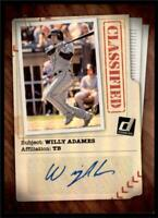 2020 Donruss Classified Signatures Auto #CLS-WA Willy Adames - Tampa Bay Rays