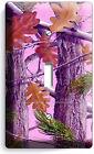 PINK OAK LEAVES MOSSY TREE CAMO CAMOUFLAGE SINGLE LIGHT SWITCH PLATE GIRLS ROOM