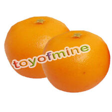 2 Pcs Artificial Orange Large - Plastic Decorative Fruit Oranges Fake