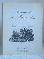 Catálogo De Venta Documentos Y Autógrafos Libertad Igualdad 25 Janvier 1977