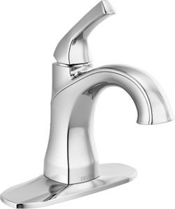 Delta Portwood Single-Handle Bathroom Faucet - 1 or 3 Hole Inst Chrome - 15770LF
