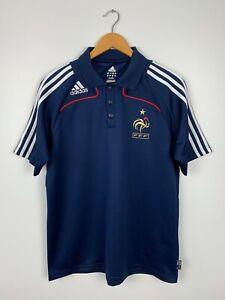 Adidas France National 2007-2008 Soccer Football Polo T-shirt Size L