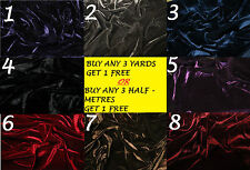 Velvet Velour Lycra Spandex Two 4 Way Stretch Dress-Making Craft Fabric Material