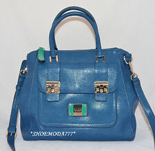 GUESS Ilya Retro Shoulder Bag Purse Handbag Satchel Black Multi Blue Camel New