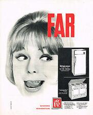 PUBLICITE ADVERTISING   1962   FAR   réfrigérateur cuisinière tous gaz