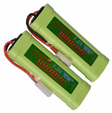 Two 2 x Rechargeable Battery For NI-MH 3800mAh RC 7.2V