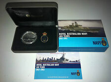 2011 $1 Royal Australian Navy 1oz Silver Proof Coin & Badge Set