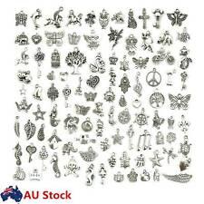 100pcs Bulk Tibetan Silver Mix Charm Pendants Necklace Jewelry Making DIY Craft