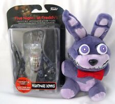 "Funko FNF 5"" Nightmare Bonnie Figure and 6"" Nightmare Bonnie Plush-Brand New!"