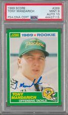 Tony Mandarich Packers Signed Autograph 1989 Score RC PSA 9 PSA DNA Auto 10