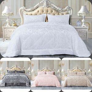 New Fluffy Teddy bedspread Set with 2 pillow case Velvet Fleece Warm Beddings
