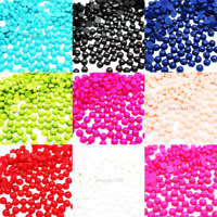 1000 - 2000 Half Pearl Round Flat Back Loose Beads Acrylic Gems Nail Art Crafts