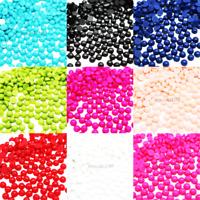 1000 - 2000 Half Pearl Round Flat Back Loose Beads Acrylic Gems Nail Art Crafts