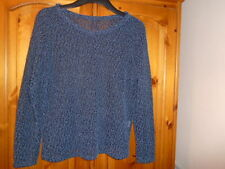 Blue and black bobble textured lightweight jumper top, ATMOSPHERE, size 10