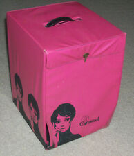 "Vintage Carousel Pink TWIGGY MOD 1960s Vinyl Women's Wig Case Holder 12"" Carrier"