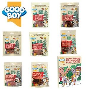 Pawsley GoodBoy Christmas Dog Treat Chew Range Made with 100% natural meat