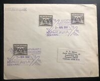 1937 The Hague Netherlands Aviation Exhibition Airmail Cover To Amsterdam