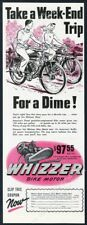 1947 Whizzer bike motor motorcycle art Take A Week End Trip vintage print ad