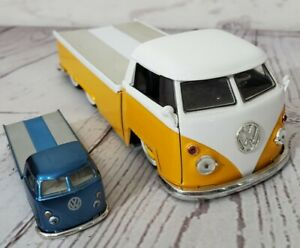 Jada V Dubs 1963 Volkswagen pickup w/ sliding bed 1/24 & 1/64 LOT OF 2