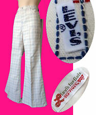 BIG E Vintage Levi BELL Bottoms 60s 70s flare pant jean disco for GALS white red