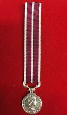 "MSM British Meritorious Service Medal Miniature Medal With 6"" Ribbon"