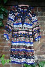 Vintage 1970s Folksy Floral Midi Dress by Windsmoor