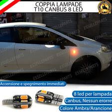 COPPIA LAMPADE FRECCE LED LATERALI FIAT GRANDE PUNTO T10 CANBUS NO ERRORE