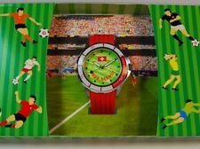 "NUOVO Svizzera Calcio Fan Orologio FOOTBALL WATCH ""Hoop SCHWIIZ"" #070 Uomo"