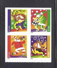 US Scott # 3825 - 3828 / 3828b Christmas Music Makers 2003 block of 4 MNH