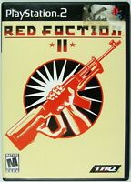 2002 Playstation 2 RED FACTION II PS2 Game Complete Case Disc Manual