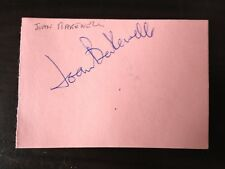 JOAN BAKEWELL - JOURNALIST / TV PRESENTER & MP - SIGNED VINTAGE ALBUM PAGE