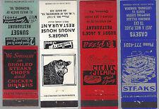Match Books Lot of 4 Virginia Establishments