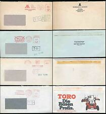 GERMANY POSTAGE DUES on METER FRANKINGS...COMMERCIAL ENVS.4 ITEMS 1975-76 to GB