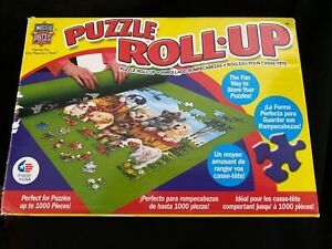 """Puzzle Roll Up Mat, Store Unfinished Puzzles up to 1000 Pieces 36""""x30"""" with Tube"""