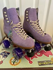 Moxi Lolly Roller Skates Lilac size 4 M (5-6 W).  Brand New Suede Roller Skates
