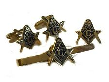 Freemason Masonic Gift Set Cufflinks, Lapel Badge, Tie Clip