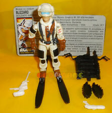 BLIZZARD (v1) 1988 Series 7 - With Card - G.I. Joe GI Hasbro ○○○○ COMPLETO