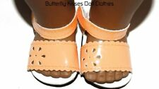 Orange Patent Flower Sandals 18 in Doll Clothes Fit American Girl