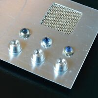 Star Trek TOS, Tricorder Parts, 3 Blue Jewels, 1 Coronet Fabric, 3 Metal T-Jet