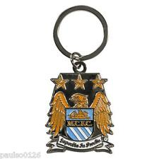 New Official Manchester City Football Club Key Ring on a Chain