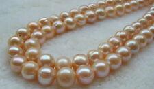 "huge 12-14MM NATURAL Pink South Sea Pearl loose beads 15"""