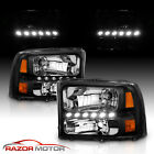1999-2004 for Ford F250/F350 Superduty Excursion LED Black Harley Headlight  for sale