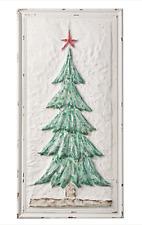 "40"" GLITTERED TREE WITH STAR WALL ART Metal CHRISTMAS RAZ Imports 4054234 NEW"