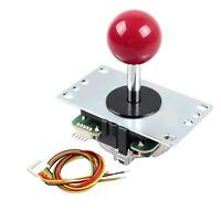 Sanwa JLF-TP-8YT Red Handle 8 way joystick for Arcade video Games 5Pin Stick