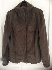 Ladies size small brown cord casual jacket Per Una machine washable M&S good con