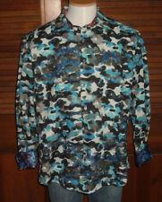 ROBERT GRAHAM MEN'S BLUE DE SKIES LMT ED L/S CAMO PRINT SHIRT  $398 NWT 3XL