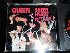 QUEEN BRIAN MAY AND ROGER TAYLOR SIGNED SHEER HEART ATTACK CD COVER