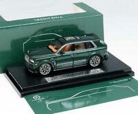 Time Model 1:64 Rolls Royce SUV CULLINAN Mansory Green Diecast Model Car IN BOX